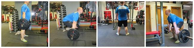 deadlift and romanian dead lift exercises